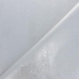 Tissu Simili cuir souple Queenie - bleu métallisé x 10cm
