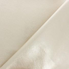 Tissu Simili cuir souple Queenie - bleu ciel métallisé x 10cm