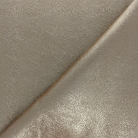 High quality faux leather fabric - Metallic cream Queenie x 10cm