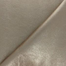 Tissu Simili cuir souple Queenie - crème métallisé x 10cm