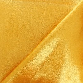 Tissu Simili cuir souple Queenie - or jaune métallisé x 10cm