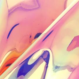 Tissu Simili cuir holographique Celestia - rose-pêche x 10cm