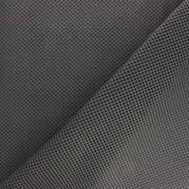 Tissu résille matelassée mesh 3D - gris foncé x 10cm