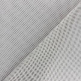 Tissu résille matelassée mesh 3D - gris clair x 10cm