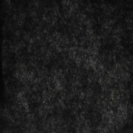 medium-weight wadding (100 g) - black x 50 cm