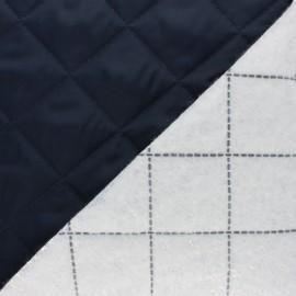 Tissu matelassé spécial coupe-vent - bleu marine x 10cm
