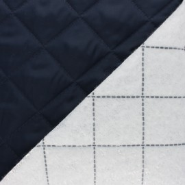 Wind-breaker Quilted lining fabric - Navy blue x 10cm