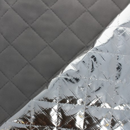 Thin Quilted aluminum padding - silver x 10cm