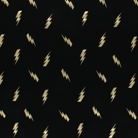 Cotton Jersey fabric - dark Grey/silver Thunder x 10cm