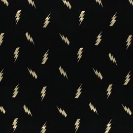Tissu jersey Tonnerre - gris foncé/argent x 10cm