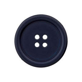 Recycled Plastic Button - Navy Blue Optimum