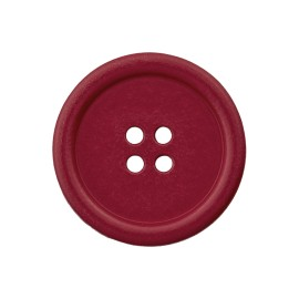 Recycled Plastic Button - Garnet Optimum