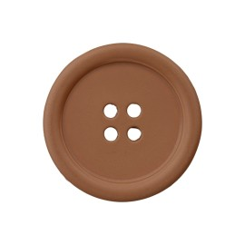 Recycled Plastic Button - Hazelnut Optimum
