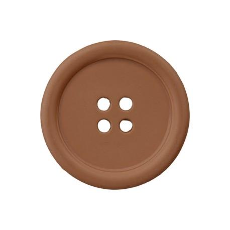 Recycled Plastic Button - Hazelnut Optimum