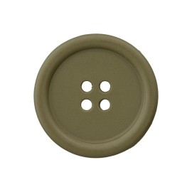 Recycled Plastic Button - Khaki Optimum