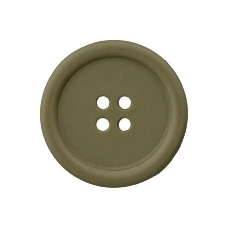 Recycled Plastic Button - Khaki Optimum