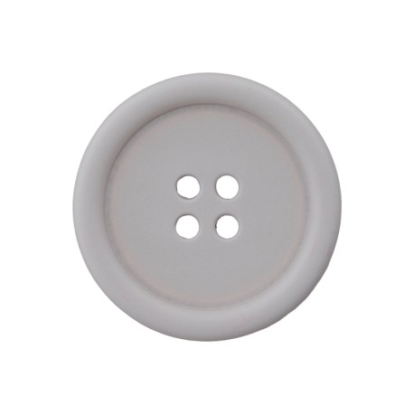 Recycled Plastic Button - Grey Optimum