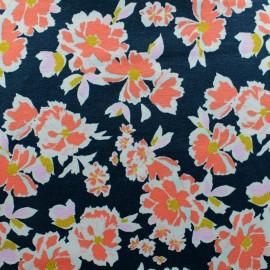 Tissu jersey fleuri Annaelle - vert x 10cm