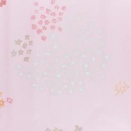♥ Coupon 270 cm X 140 cm ♥ Tissu coton enduit Rico Design Crafted Nature - fleur rose