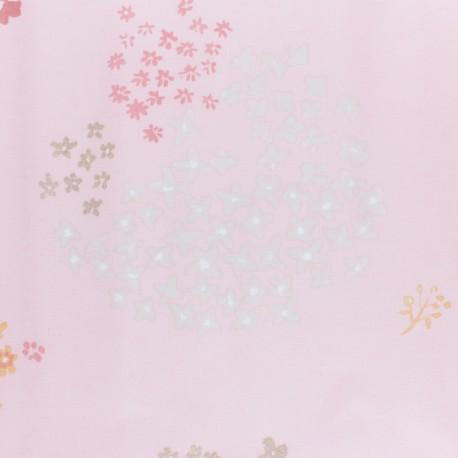 Tissu coton enduit Rico Design Okina Hana cygne - rose x 25cm