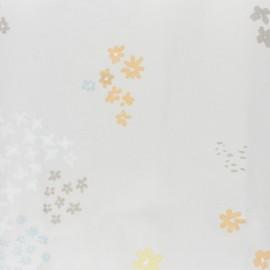 ♥ Coupon 250 cm X 140 cm ♥ Tissu coton enduit Rico Design Crafted Nature - fleur gris