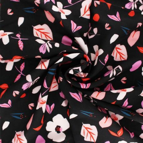 Dashwood studio Rayon fabric - Black Playful x 10cm