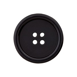 Recycled Plastic Button - Black Optimum