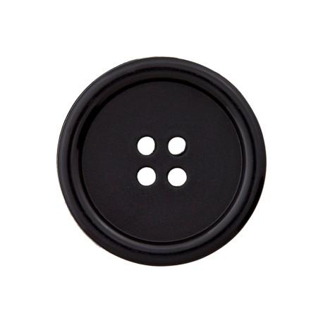 Recycled Plastic Button - Black Optimum