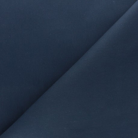 Tissu coton sergé - bleu encre x 10cm