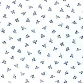 Cotton poplin fabric - white Dazzling Bee x 10cm
