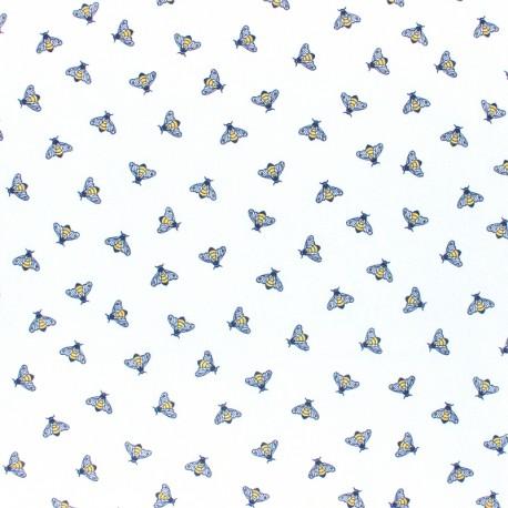 Cotton poplin fabric Poppy Oh Deer! - white x 10cm