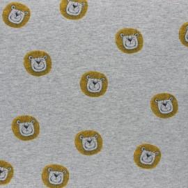 Tissu jersey Sous l'océan - gris chiné x 10cm