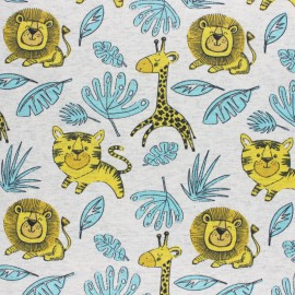 Cotton Jersey fabric - mottled raw Leo and Kira x 10cm