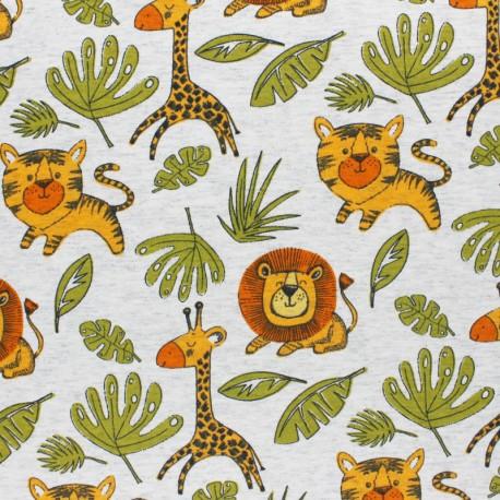 Tissu jersey Léo et Kira - vert x 10cm