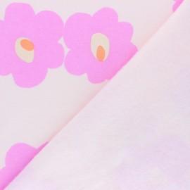 ♥ Coupon 10 cm X 170 cm ♥ Tissu sweat Rico Design Roses - rose