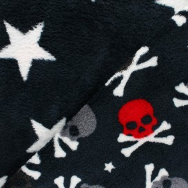 Double sided baby's security blanket - Black Toxic Skull x 10cm