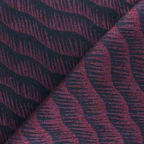 Walkie Talkie Jacquard fabric - black/teal Vague x 10cm