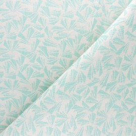 Tissu Walkie Talkie - Jacquard Origami - vert d'eau x 10cm