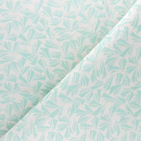 Walkie Talkie Jacquard fabric - mint green Origami x 10cm
