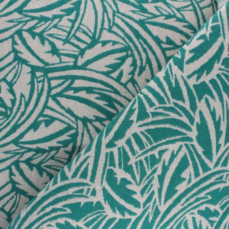 Tissu Walkie Talkie - Jacquard Millefeuille - vert x 10cm