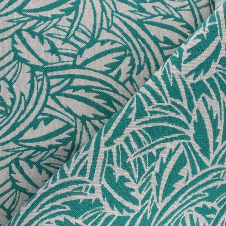 Walkie Talkie Jacquard fabric - emerald Millefeuille x 10cm