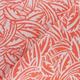 Tissu Walkie Talkie - Jacquard Millefeuille - corail x 10cm