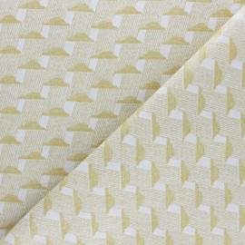 Tissu Walkie Talkie - Jacquard Nuage - gris x 10cm