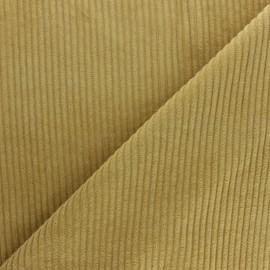 Tissu velours grosses côtes - ocre x10cm