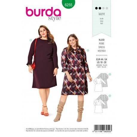 Patron Robe à Jupe Evasée Burda n°6255