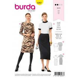 Patron Robe Fourreau Burda n°6267