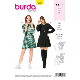 Dress Sewing Pattern - Burda Style n°6264