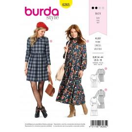 Patron Robe Col Claudine Burda n°6265