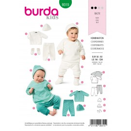 Coordinates Sewing Pattern for Baby - Burda Kids n°9315