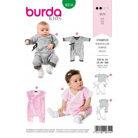 Romper Sewing Pattern for Baby - Burda Kids n°9314